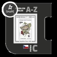 Guinea Bissau 2019, Stamp On Stamp, WWF, Rat, BF - Stamps On Stamps