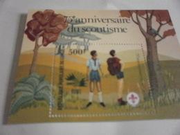 Miniature Sheet Perf 75th Anniversary Scout Movement - Congo - Brazzaville