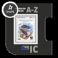 Guinea Bissau 2019, Stamp On Stamp, WWF, Seaguls, BF - Stamps On Stamps