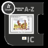 Guinea Bissau 2019, Stamp On Stamp, WWF, Sheep, BF - Stamps On Stamps