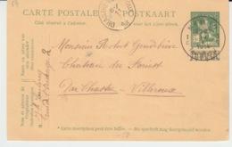 BELGIUM USED POST CARD 10 JANVIER 1913 NAMUR VILLERAUX VIA CHASTRE - Entiers Postaux