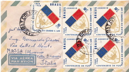 Postal History Cover: Brazil Stamps On Cover - Covers