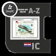 Guinea Bissau 2019, Stamp On Stamp, WWF, Snake, BF - Stamps On Stamps
