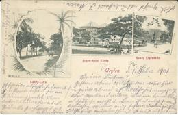 Sri Lanka (Ceylon) Ceylan 1901 Grand - Hotel Kandy Via Germany Lahr ( Baden ) - Sri Lanka (Ceylon)