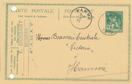 146/29 - BRASSERIE Belgique - Entier Postal Pellens AMAY 1919 Vers Brasserie HAMME - Cachet Dessart , Brasserie D' AMAY - Bières