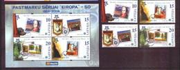 2006 - LETTONIA / LATVIA - CINQUANTESIMO DEL PRIMO FRANCOBOLLO CEPT - 50TH OF THE FIRST EUROPA CEPT STAMP. MNH - Lettonia