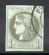 FRANCE - 1870 - YT N° 39B - Report 2 - Cote: 220,00 € - 1870 Bordeaux Printing
