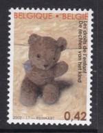 TIMBRE NEUF DE BELGIQUE - LES DROITS DE L'ENFANT : OURS EN PELUCHE MUTILE N° Y&T 3090 - Enfance & Jeunesse