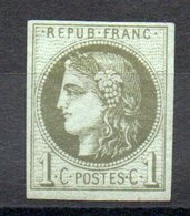 FRANCE - 1870 - YT N° 39B Signé - Neuf * - MH - Report 2 - Cote: 225,00 € - 1870 Emissione Di Bordeaux