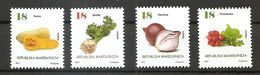 MACEDONIA 2017,VEGETABLES,PUMPKIN,ONION,RADISH,CELERY,MNH,,,MNH - Macedonia