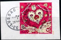 France - St-Valentin 2013 Coeur Hermes YT 4717 Obl. Cachet Rond Sur Fragment - Oblitérés