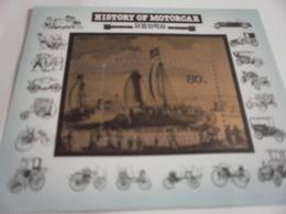 Miniature Sheet Perf History Of The Motor Car - Korea, North