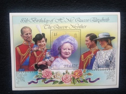 Belize 85th Birthday Of The Queen Mother $5 Mint - Belize (1973-...)