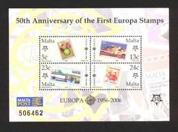 2005 - MALTA - CINQUANTESIMO DEL PRIMO FRANCOBOLLO CEPT - 50TH OF THE FIRST EUROPA CEPT STAMP. MNH - Malta