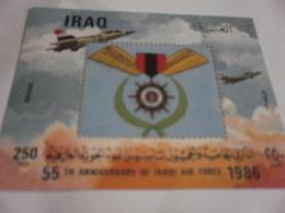 Miniature Sheet Perf 55th Anniversary Of Iraqi Air Force 1986 - Iraq