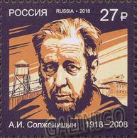 2018-2418 Russia Nobel Prize Laureates. Alexandr Solzhenitsyn , Writer 1v  Mi 2636  ** - Unused Stamps