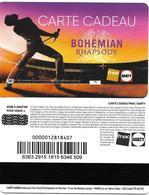 @+ Carte Cadeau - Gift Card : FNAC - Bohemian Rhapsody - France