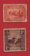 Monnaie Maroc/ Marocco :Empire Chérifien 0,50 Et 2 F  Avril 1944 - Zuid-Afrika