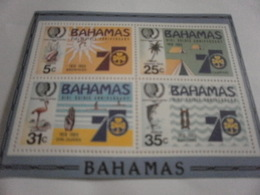 Miniature Sheet Perf Girl Guides Anniversary - Bahamas (1973-...)
