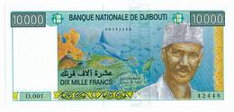 BANQUE NATIONALE DE DJIBOUTI // 10 000 Francs // UNC - Djibouti