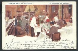 +++ CPA - Carte Publicitaire - BRUSSEL - BRUXELLES - Publicité Grand Hôtel De Bruxelles - Le Grill Room   // - Cafés, Hotels, Restaurants