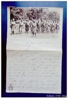 Papier à Lettre Photo En Tête:Sous Officier Indigène Avec Sa Section - Visa Du Ministère Des Colonies , Belgique - 1914-18