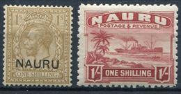 NAURU - N° 11 & 25 - * - TB - Nauru