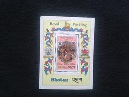 Bhutan Royal Wedding 1981 20nu S/S Mint - Bhutan