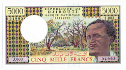 BANQUE NATIONALE DE DJIBOUTI // 5000 Francs // UNC - Djibouti