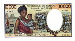 BANQUE NATIONALE DE DJIBOUTI // 10 000 Francs // SPL/AU - Djibouti