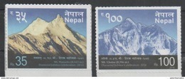 NEPAL, 2016, MNH, MOUNTAINS, 2v - Geology