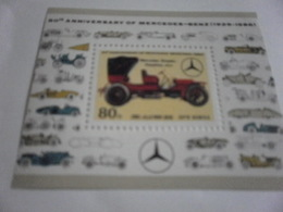 Miniature Sheet Perf History Of The Motor Car Karl Benz - Korea, North