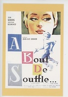 1959 A Bout De Souffle : Jean-Luc Godard François Truffaut Jean Seberg Jean-Paul Belmondo (fait Divers) Cp Vierge - Affiches Sur Carte