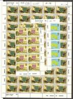 1976 Jersey SERIE ORDINARIA VEDUTE VIEWS 80v.: Yv.125 (x10)+126 (x60)+132 (x10) MNH** In Bl.+ Foglio - Jersey