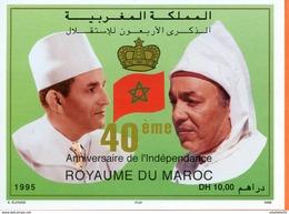 "Maroc ;1995, Bloc  Feuillet ,BF 23 "" 40ème Anniversaire De L'indépenda,ce "" Neuf**,MNH;Morocco,Marruecos - Morocco (1956-...)"