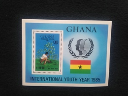 Ghana International Year Of Youth 1985 S/S Mint - Ghana (1957-...)