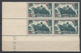 CD 502 FRANCE 1939 COIN DATE 502  : 23 / 8 / 39 LANCEMENT DU PAQUEBOT PASTEUR AU PROFIT DES OEUVRES DE LA MER - Coins Datés