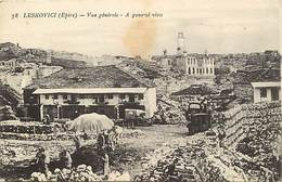 Pays Div -ref T376- Albanie - Guerre 1914-18- Leskovici - Epire - Vue Generale - - Albania
