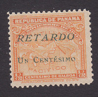 Panama, Scott #I6, Mint No Gum, Late Fee Stamp, Issued 1917 - Panama