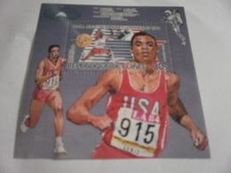 Miniature Sheet Perf 1984 Los Angeles Olympics Carl Lewis - Guinea (1958-...)