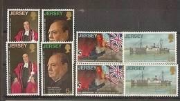 1970 Jersey  25° ANNIVERSARIO LIBERAZIONE  LIBERATION 2 Serie Di 4v. (20/23) MNH** - Jersey