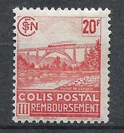 FRANCE - 1943 - Colis Postaux - Y.T. N°211 - 20 F. Rouge - Remboursement - Neuf* - TTB - Mint/Hinged