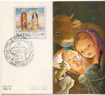 Postal History Cover: Brazil Stamp On Card - Christmas