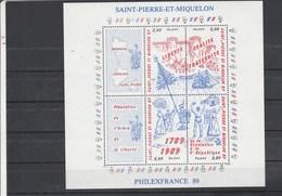 Saint Pierre Et Miquelon Yvert  Bloc 3 ** Révolution Française - Blocks & Sheetlets