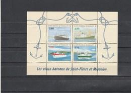 Saint Pierre Et Miquelon Yvert  Bloc 4 ** Bateaux - Blocks & Sheetlets