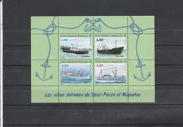 Saint Pierre Et Miquelon Yvert  Bloc 5 ** Bateaux - Blocks & Sheetlets