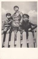 Harbin China, White Russian Boys, C1930s Vintage Postcard - China