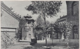Harbin China, Chinese Manchurian Temple Courtyard, C1920s Vintage Postcard - China