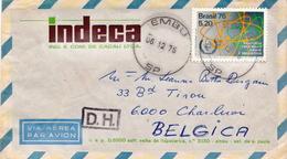 Postal History Cover: Brazil Stamp On Cover - Atom