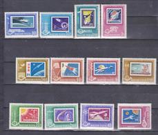 SPACE, COSMOS, Hungary 1963 Set 10 V, Mnh, Stamp On Stamp, - Espacio